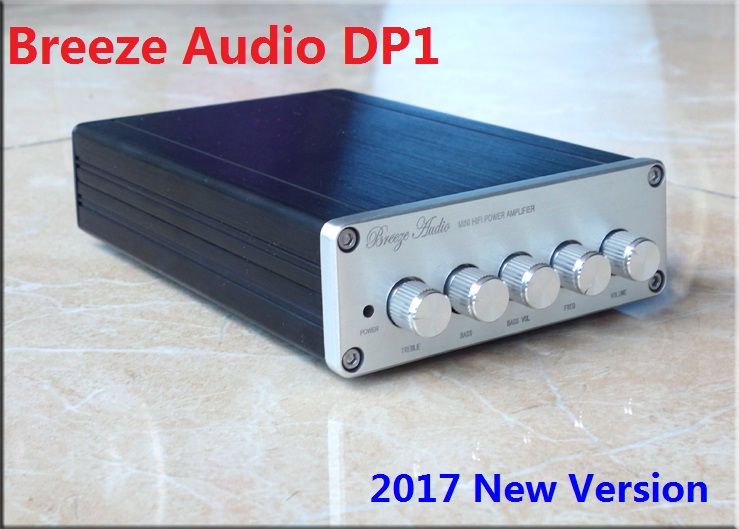 2017 New Breeze Audio DP1 2.1 Channel high-power HIFI digital audio amplifier 50W*2+100W TPA3116D2 Subwoofer Amplifier DC24V 5A 2017 new i am d dav130bt high power 100w 2 digital audio bluetooth amplifier input usb coaxial optical aux dc24v 5a power supply