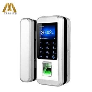 Image 2 - Yeni varış biyometrik parmak izi kapı kilidi tuş takımı ile XM 300 ev ofis için anahtarsız kapı kilidi anti hırsızlık