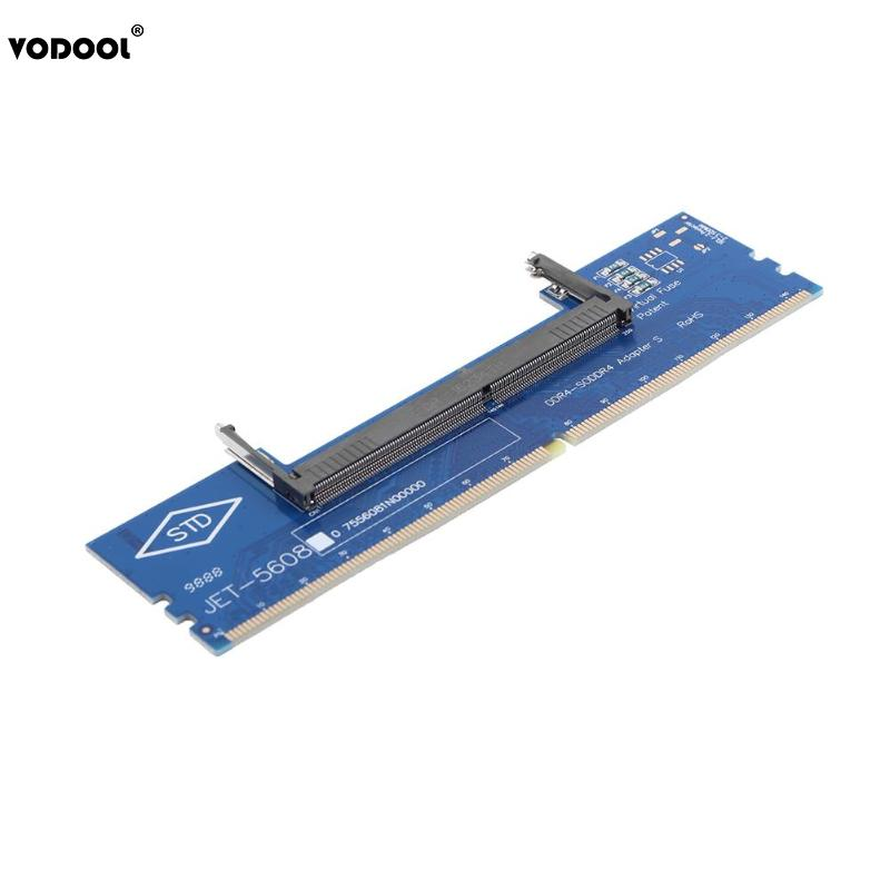 VODOOL portátil DDR4 SO-DIMM escritorio DIMM memoria RAM adaptador de conector de PC de escritorio tarjetas de memoria Adaptador convertidor