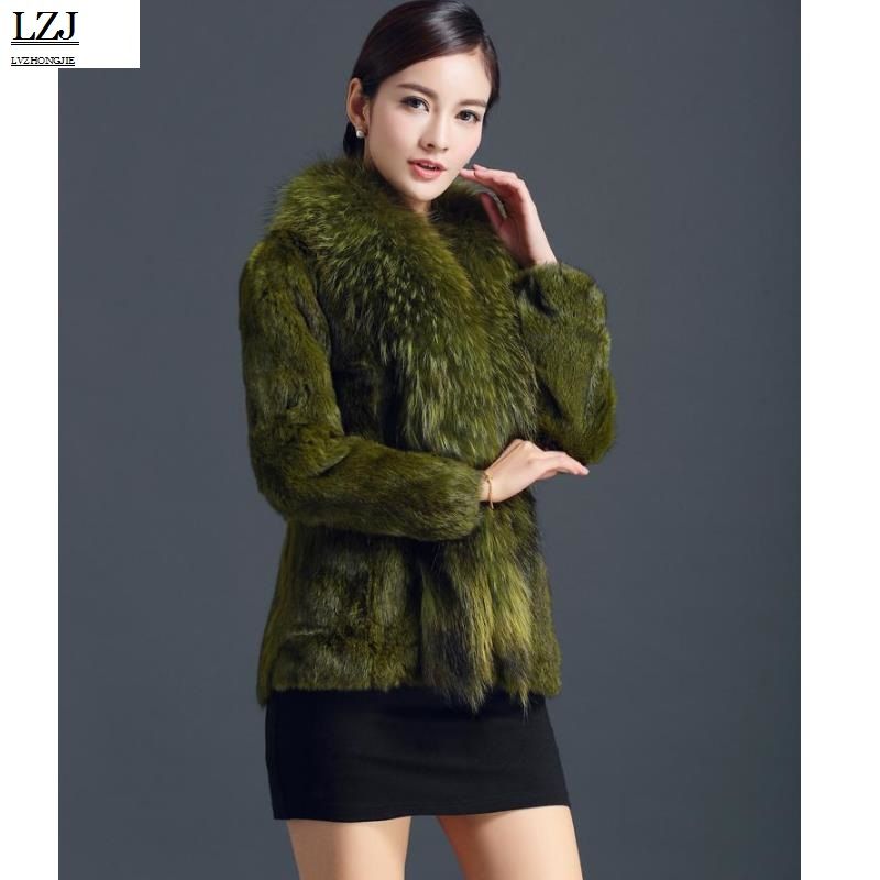 Dame Hiver Court Fourrure black pieces Lapin Le À Longues yellow Naturel Raton green Lzj Capot Laveur Manteau De Of Russie gray Xxxl Manches En Marque Red Cuir Collier Dégagement Red Spécial brown 40qWEOtx
