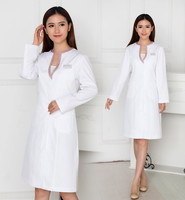 Women S Fashion White Lab Coat Medical Cosmetic Surgery Working Coat Dental Clinic Doctor Slim Lab