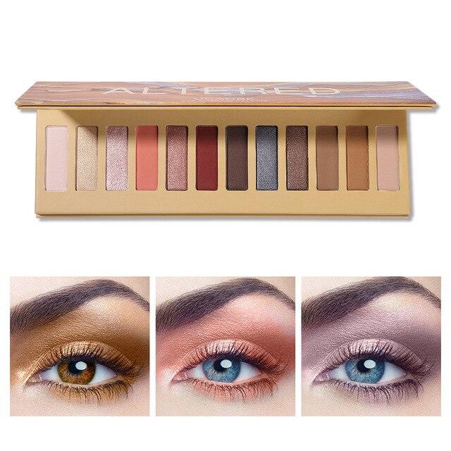 Ucanbe nuevo Arbor patrón ALTERED12 Color maquillaje paleta de mate la paridad de la tierra colores paleta de sombra de ojos