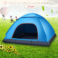 Folding Tent 3 Persons Mosquito Net Camping Bedding Oxford Cloth Blue Travel Durable Hunting Outdoors Sports Hiking Camping