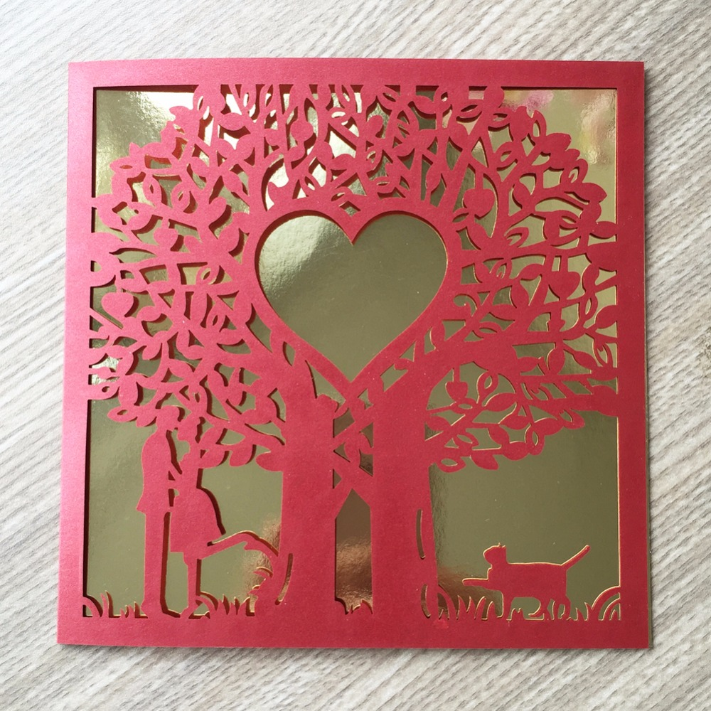 Buy wedding invitations tree envelope and get free shipping on ...