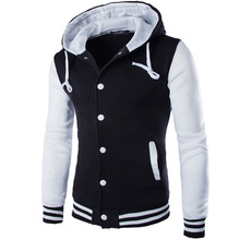 Hooded baseball jacket online shopping-the world largest hooded