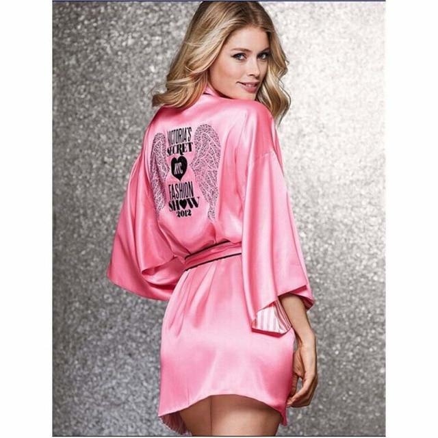 ec9d1f1d40 2016 Pink Short Silk Kimono Robe Satin Kimono Robes for Women Silk Dressing  Gown Wedding Bridesmaid Spa Bath Robes for Women