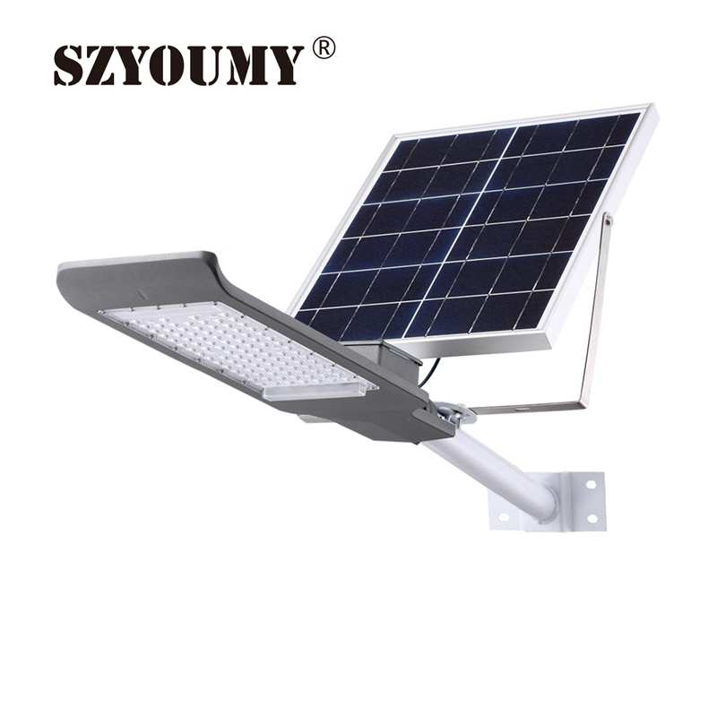 SZYOUMY 20W 30W 40W 50W 100W Remote Control Solar Floodlight for Street Solar Lamp Outdoor Waterproof With Wall Pole Solar Light