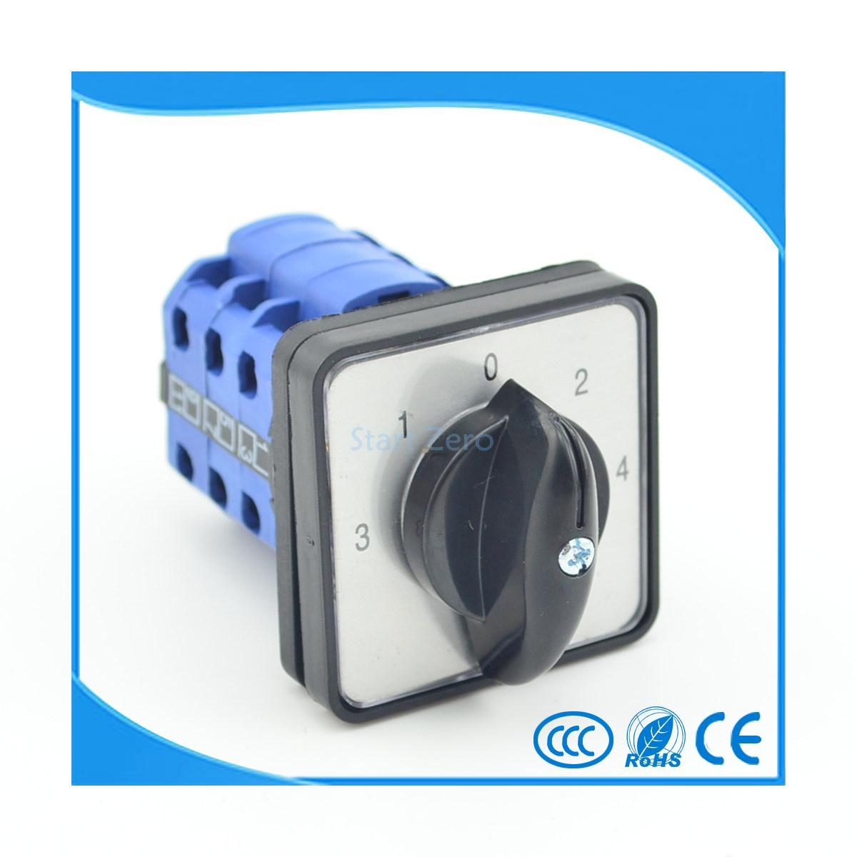 5 Position 12 Terminals 20A  Rotary Cam Combination Switch