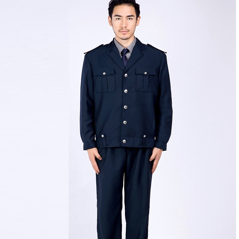 (10 Set-jacket&pant)security Property Suit Jacket With Pants Security Uniforms Men Work Clothes Residential Property Overalls