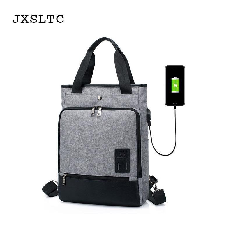 Jxsltc New Waterproof Large Capacity Laptop Bag Man Usb Design Backpack Bag Black Backpacks Brand Women School Bags