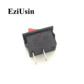 1pcs KCD1 On-Off 3Pin 2Pin Black Red Boat Car Rocker Switch 6A 220V 10A 125V Button KCD1-102 3P 2P 15*21mm 15x21 On-Off-On image