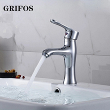 Grifos Bathroom Basin Faucet Chrome Sink Mixer Tap Brass Bathtubs Water Faucets Single Hole Cold And Hot Water Tap Torneira