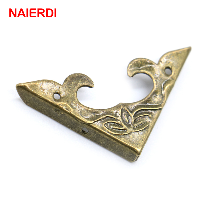 NAIERDI 30PCS Antique Corner Bracket 30mm Scrapbook Albums Jewelry Wooden Box Decorative Protector Crafts For Furniture Hardware