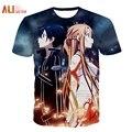 Novo Anime Espada de Arte Em Linha SAO Camisetas Tees T Camisas mulheres Homens Verão Casual Camisetas 3d T Shirt Camisetas Masculina