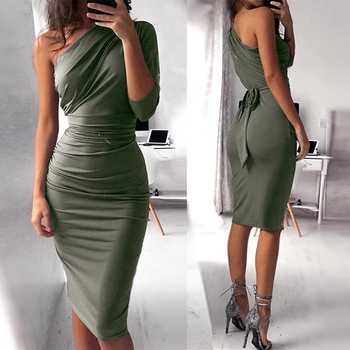 One Shoulder Bodycon Party Dresses 5