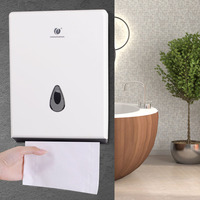 Tissue Paper Towel Dispenser Box Cover Wall Mounted Multifold Paper Dispenser Napkins Holder Container
