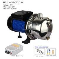 Automatic DC Surface Solar Pumps , Solar Surface Pump centrifugal solar jet pump SSGJ3.0/45 D72/750