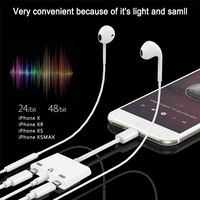 1 x 3 In 1 Adapter For Lightning To Dual Light-ning Charge With 3.5mm Headphone Audio Jack For iPhone X/8/8P/7P/7 For iOS 10.3-12.1 (5)