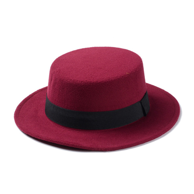 Wine red Womens fedora 5c64fe1e69502