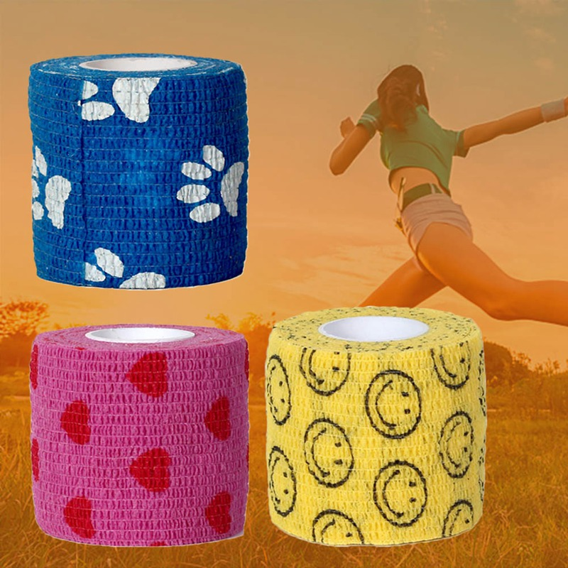 1 Pc Tape Waterproof Self Adhesive Elastic Bandage Muscle Tape Finger Joints Wrap Therapy Bandage Care 2 Sizes1 Pc Tape Waterproof Self Adhesive Elastic Bandage Muscle Tape Finger Joints Wrap Therapy Bandage Care 2 Sizes