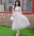 Винтаж сладкая лолита платье Конфеты дождь cunte Весна Японский стиль Чистой пряжи кружева цветочные платья G382