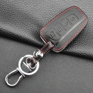 Image 2 - Jingyuqin 4 כפתורי עור רכב מפתח מקרה עבור 2013 2014 2015 יונדאי סנטה FE IX45 בראשית EQUUS AZERA keyless רכב אבזרים