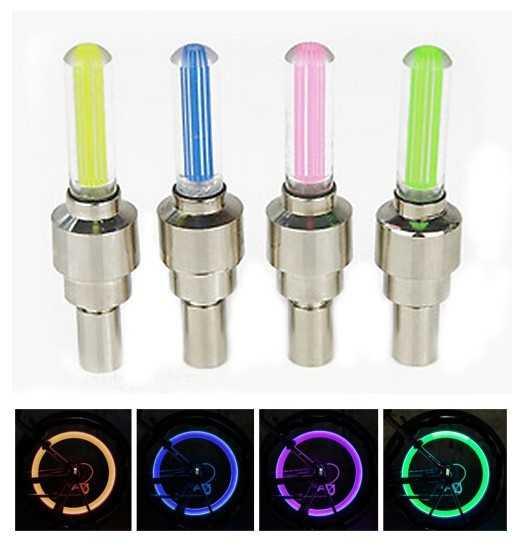 Лидер продаж <font><b>LED</b></font> Велосипедные фары 4 шт./компл. колеса шины Клапан велосипед Интимные аксессуары Велоспорт светодиодный свет велик