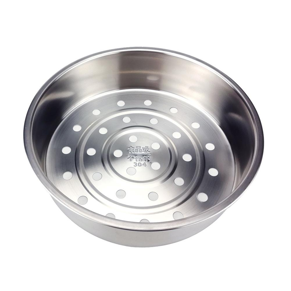304 Stainless Steel Steamer Household Thickening Deepening Rice Cooker Basket Steaming Basket Vegetable And Fruit Drain Basket