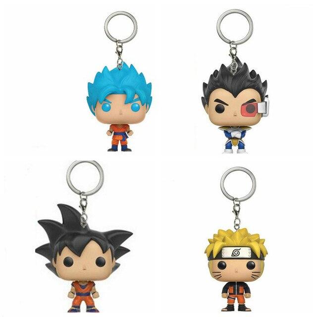 Dragon Ball Z Son Goku Naruto Vegeta Figure Doll Collectible Model Toy Keychain PVC toys Action Figure Key Chain Accessories