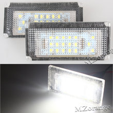 2Pcs LED Car Number License Plate Lights 6500K 12V Number Plate Light LED Bulb For BMW Mini Cooper S R50 R52 R53 Car Accessories 2pcs set door rear view mirrors cover case sticker decal car styling for mini cooper one s r50 r52 r53 2002 2006 accessories