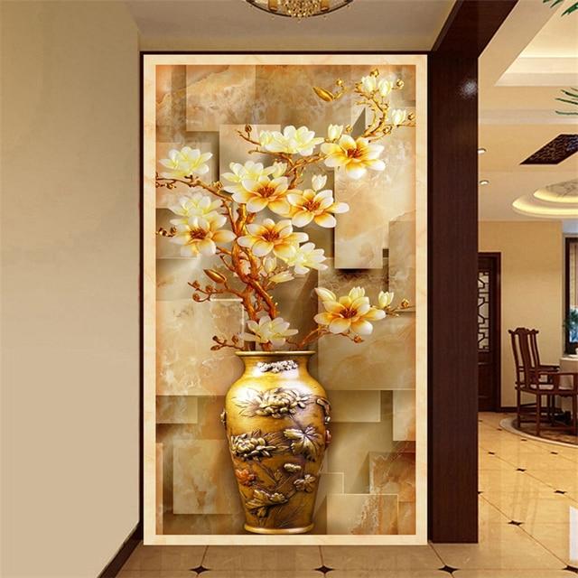 beibehang Color carving wall mural art painting mural wallpaper 3d ...