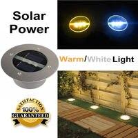 LAGUTE נקבר מנורת אור גן בחוץ נתיב Solar Power LED הסיפון מנורות תחתית עמיד למים