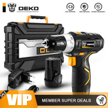 DEKO GCD12DU3 12 V Max Electric Screwdriver Cordless Drill Mini Wireless Power Driver DC Lithium-Ion Battery 3/8-Inch 2-Speed(China)