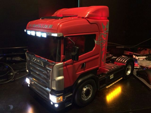 Led Lights For Tractor Trailers : Chassis led lights for scania tamiya rc wd tractor