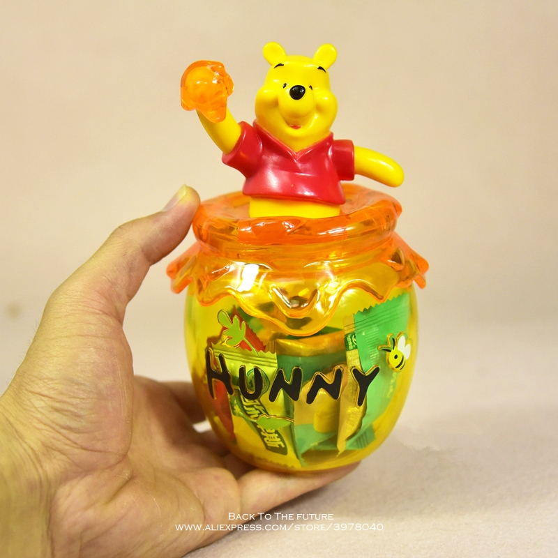 Image 5 - Disney Winnie the Pooh storage jar 16cm Action Figure Anime Decoration Collection Figurine mini doll Toy model for children giftAction & Toy Figures   -