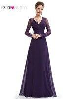 Formal Evening Dresses Ever Pretty HE08692PP Women S Elegant V Neck Long Sleeve Lace Plus Size