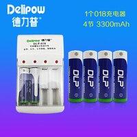 New Hot AA No. 5 4pcs battery set 1.2V 3300mah high capacity battery 1zk47a Rechargeable Li ion Cell 1pcs Charger
