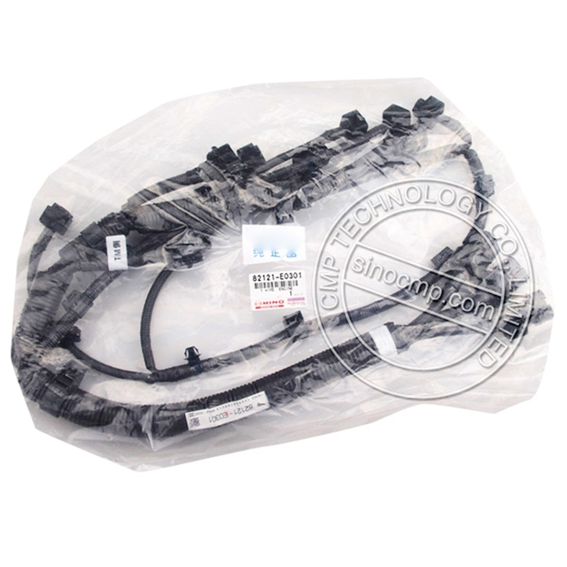 SK330 8 SK350 8 engine wiring harness 82121 E0301 for kobelco