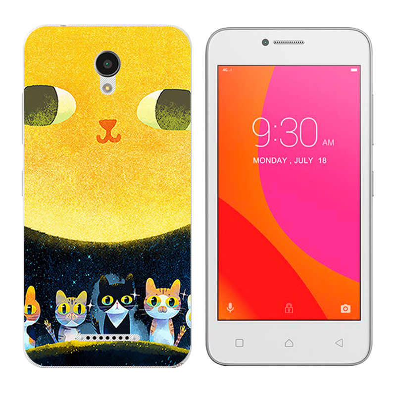 Para Lenovo Vibe B A2016 A1010 A20 un Plus APlus A1010a20 A2016A40 chica gato impresión teléfono casos cubierta de silicona para a1010