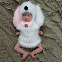 Kawaii Baby Hat Big Puppy Dog Ears Hat Romper Set Newborn Photography Props Infant Photo Shoot Outfits Baby Girl Boy Photo Prop
