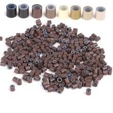 Gratis Verzending (1000 pcs/fles) 1 flessen 4.0x2.6x4.0mm Koper Siliconen ringen/buizen voor I tip en Micro Ring hair Extensions