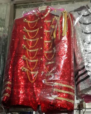 Blazer men formal dress latest coat pant designs suit men costume royal sequins marriage wedding suits for mens silver red