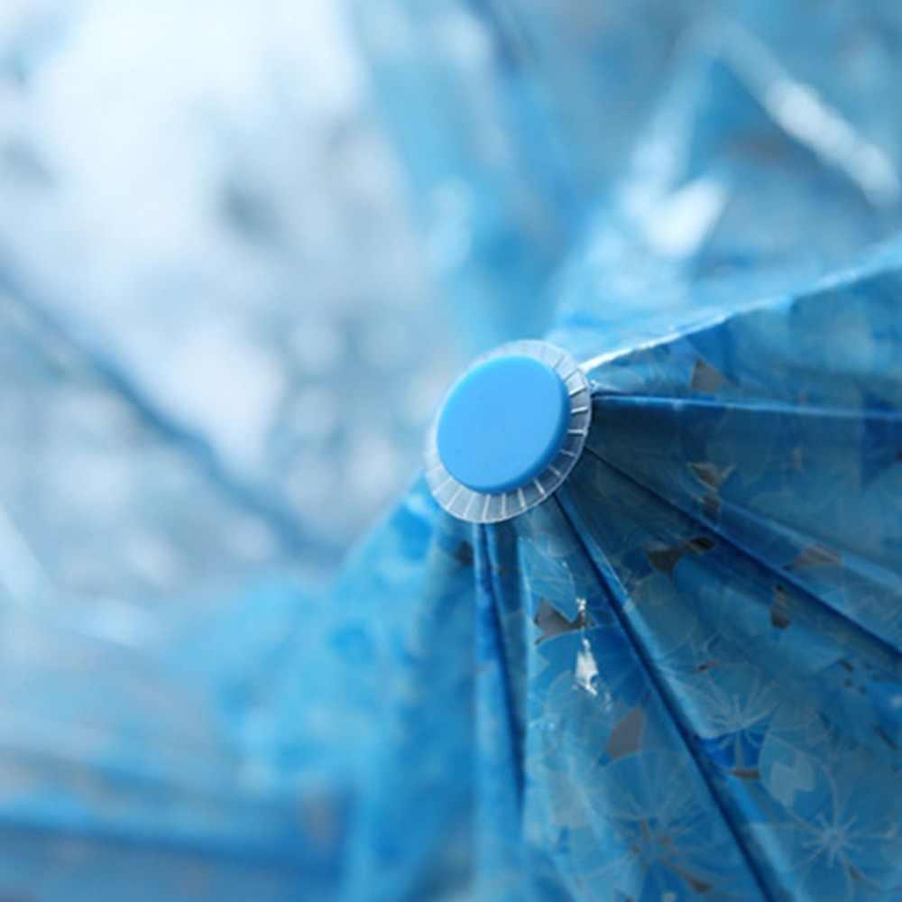 Компактный складной Вишневый зонтик прозрачный зонтик три складные 8 ребра ветрозащитные Зонты женский зонт от дождя