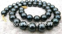 100 Brand New High Quality Fashion Picture Full A 9 10mm Black Tahitian Cultured Pearl Necklace