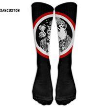 ФОТО samcustom acab 3d printing long stocking fashion knee socks women cotton  high over the knee stockings for ladies girls warm