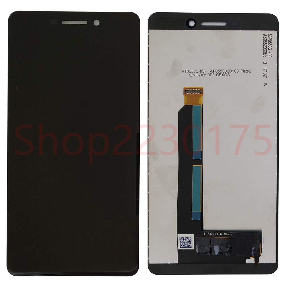 For <font><b>Nokia</b></font> 6 2018 <font><b>6.1</b></font> TA-1043 TA-1045 TA-1050 TA-1054 TA-1068 LCD Display <font><b>Touch</b></font> <font><b>Screen</b></font> Digitizer Assembly Replacement Parts image