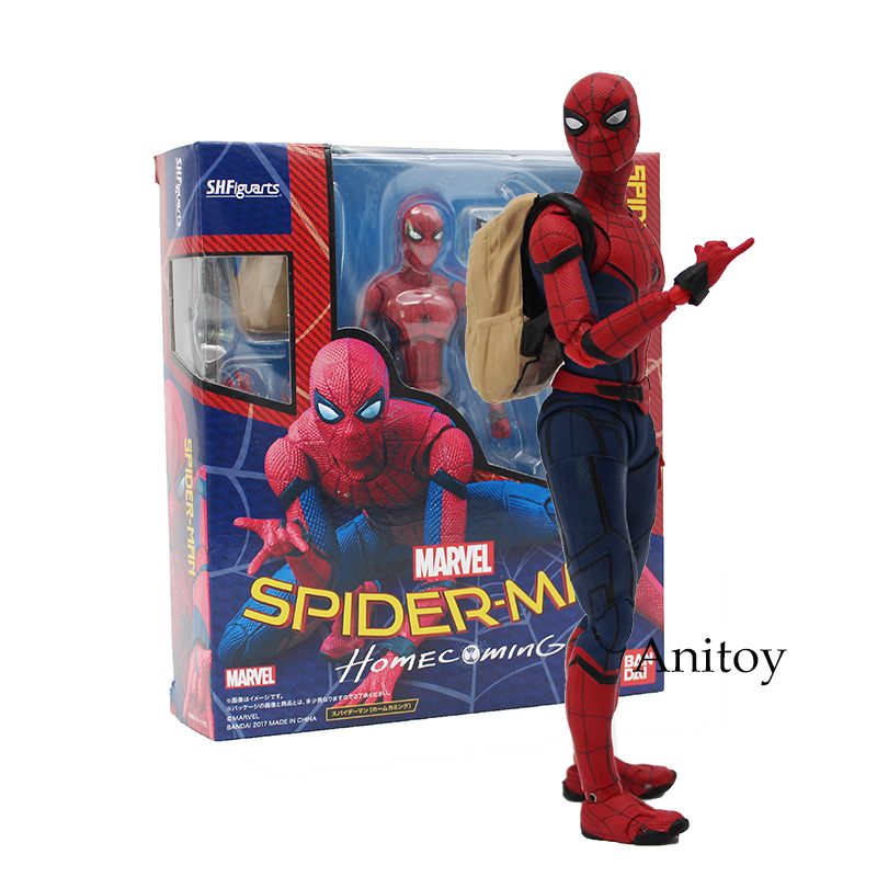 SHFiguarts Spiderman Variant Spider-Man: Homecoming Variable Spider Man PVC Action Figure Collectible Model Doll Toy 14cm naruto kakashi hatake action figure sharingan ver kakashi doll pvc action figure collectible model toy 30cm kt3510