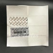 300 шт проблесковые гарантийные пустые этикетки наклейки печать серебро на заказ печатные Новые