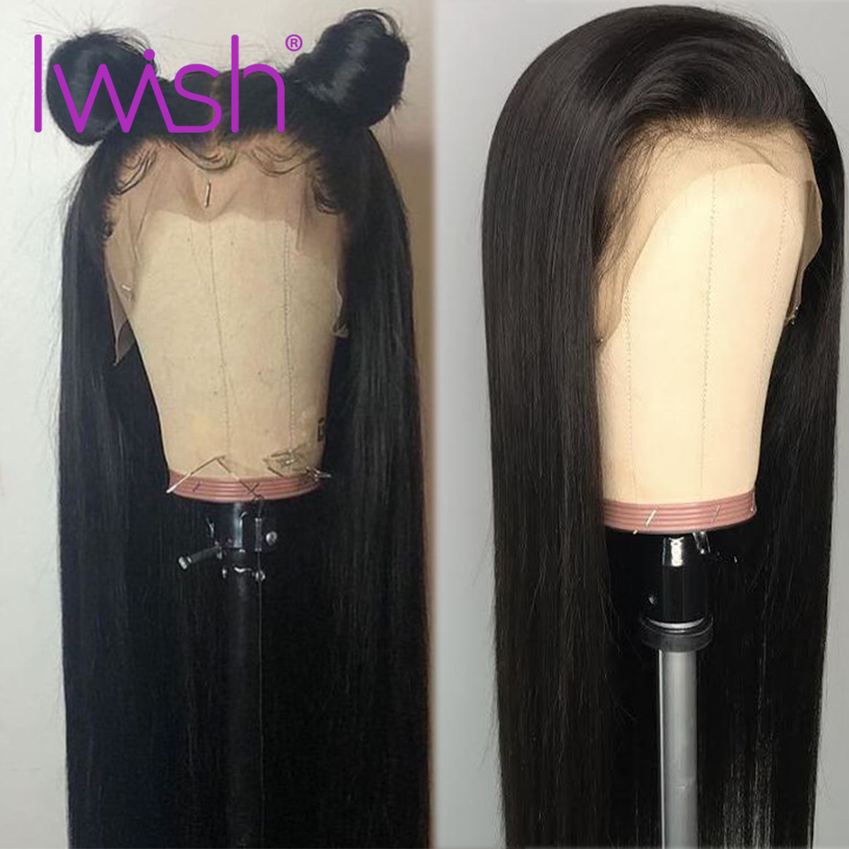 Malaysian Straight Wigs For Black Women Pre Plucked Bleached Knots Wigs 150 Density Human Hair Lace