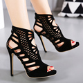 2017 New Brand New Design  Sandals Sexy Open Toe 12CM High Heels Sandals Women Shoes Good Quality Party Dress Pumps size35-40